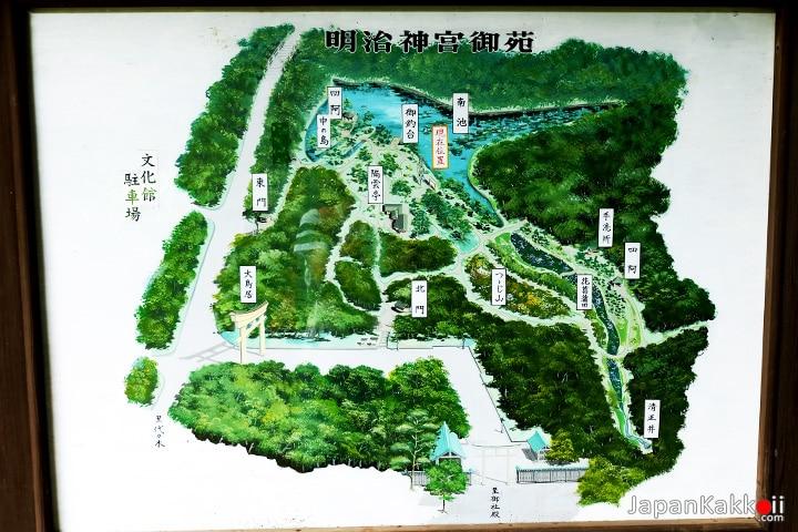 แผนที่สวน Meiji Shrine Inner Garden
