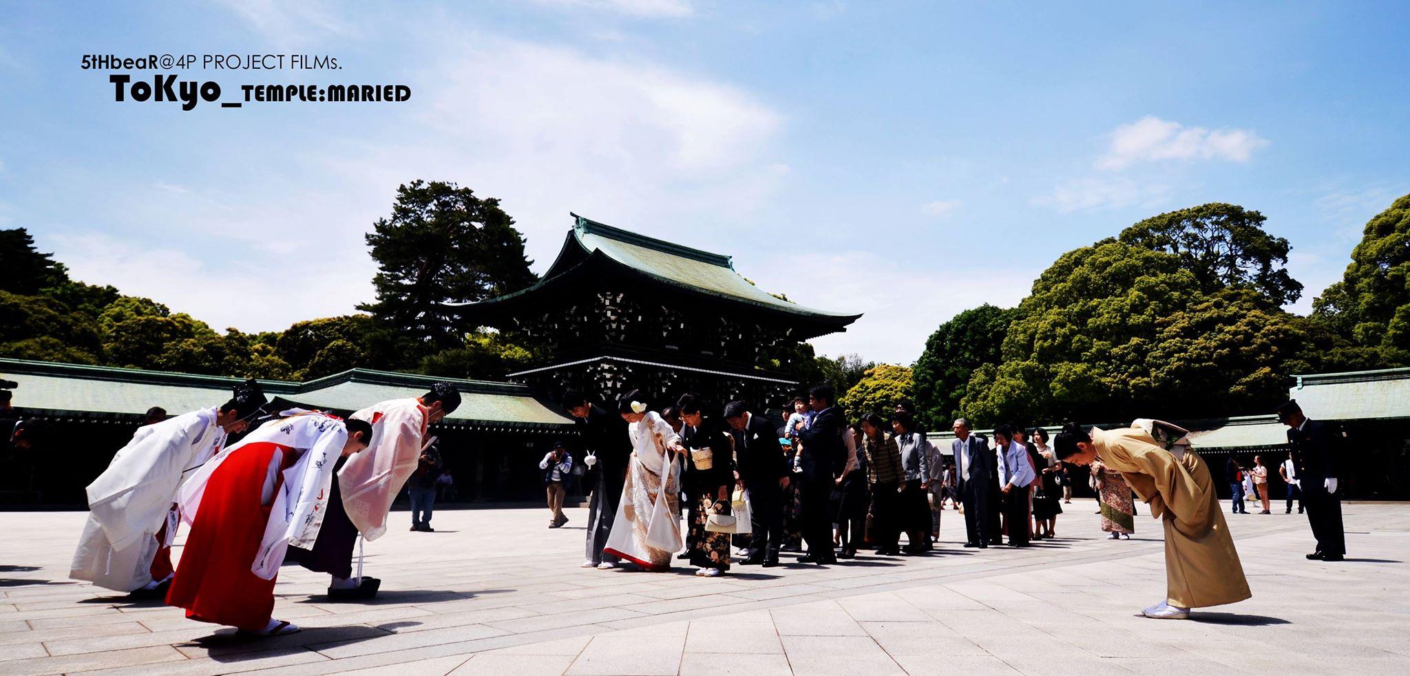 งานแต่งงานในศาลเจ้าเมจิ