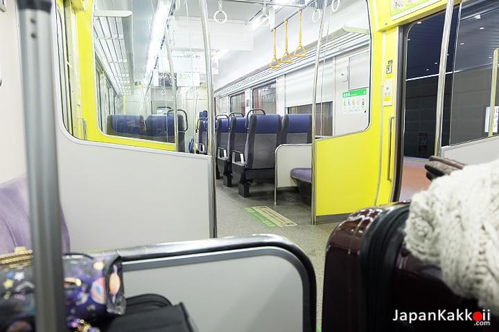 ภายในรถไฟ JR