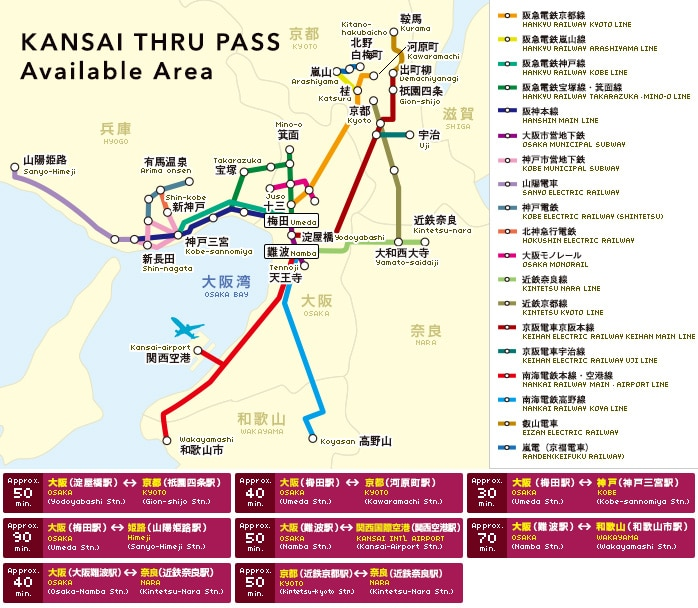 KANSAI THRU PASS Available Area
