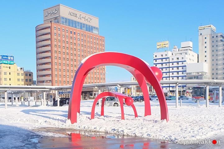 หน้าสถานี Hakodate