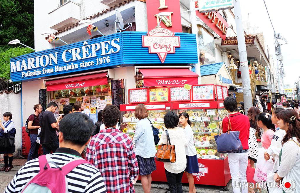 ร้านเครปญี่ปุ่นในฮาราจูกุ