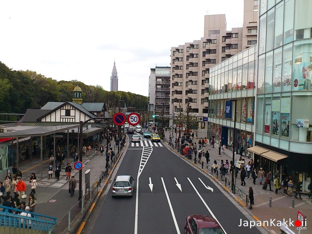 View from Harajuku Overpass
