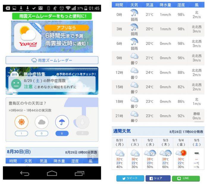 พยากรณ์อากาศญี่ปุ่น