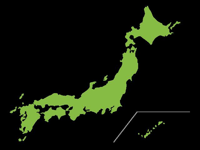แผนที่ภูมิภาคและจังหวัดของประเทศญี่ปุ่น