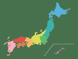 แผนที่ประเทศญี่ปุ่น
