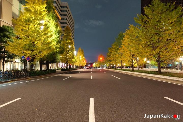 ถนนฝั่งตรงข้ามสถานี Tokyo Station