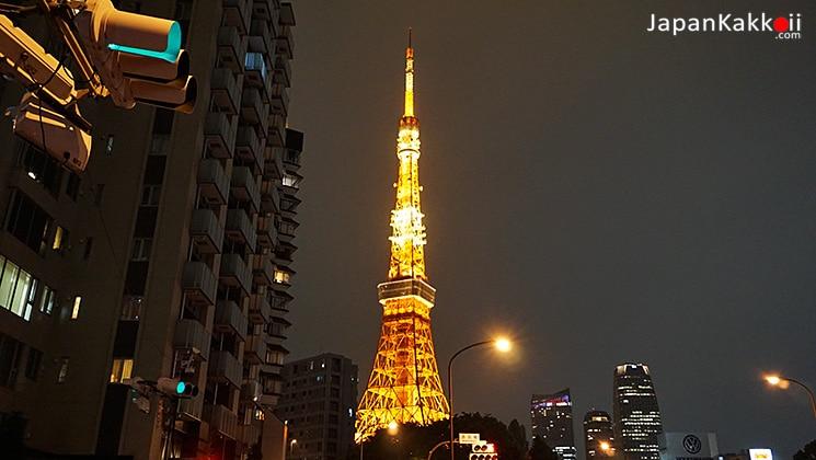 Tokyo Tower จาก Akabanebashi Station