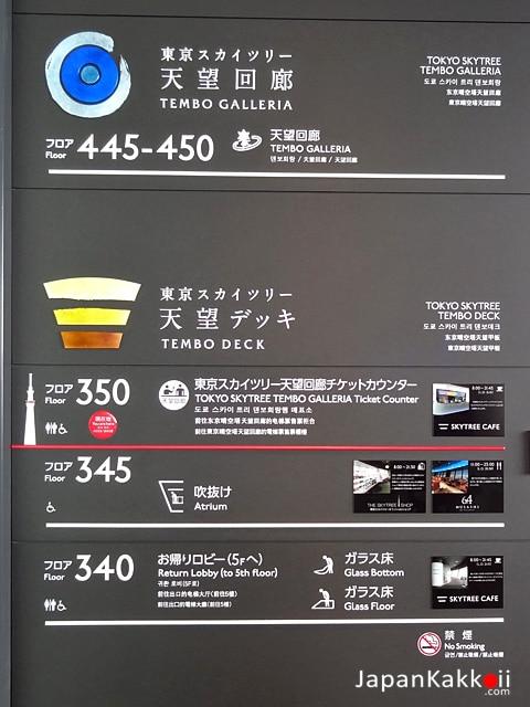 TOKYO SKYTREE Floor Map
