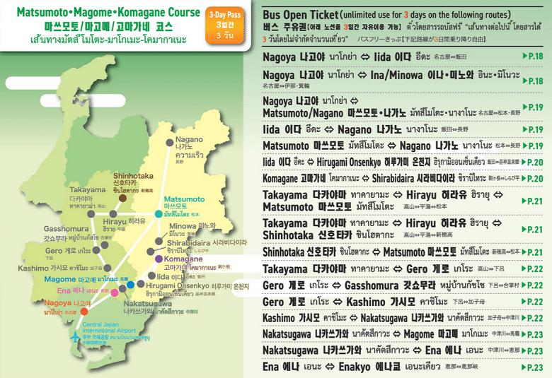 Matsumoto - Magome - Komagane Course