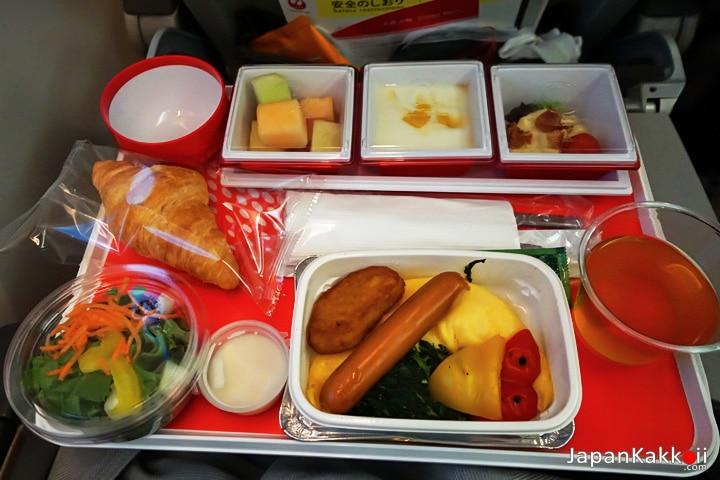 อาหารเช้าสายการบินเจแปนแอร์ไลน์