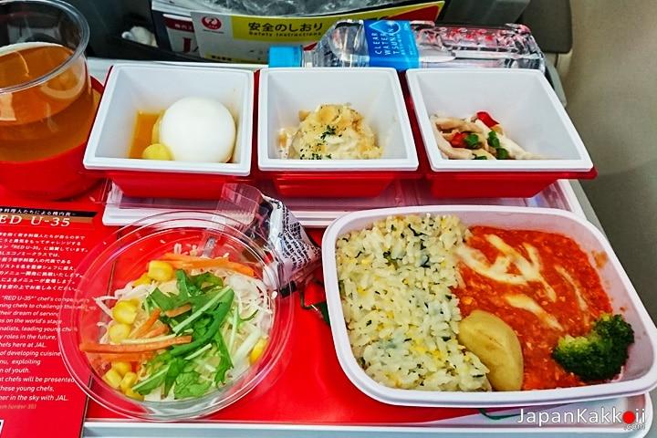 อาหารเที่ยงการบินเจแปนแอร์ไลน์ (Japan Airlines)