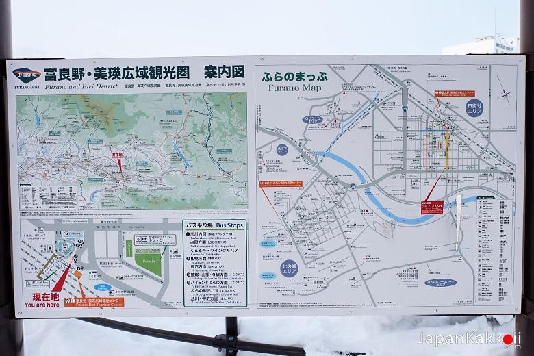 แผนที่เมืองฟุระโนะ (Furano)