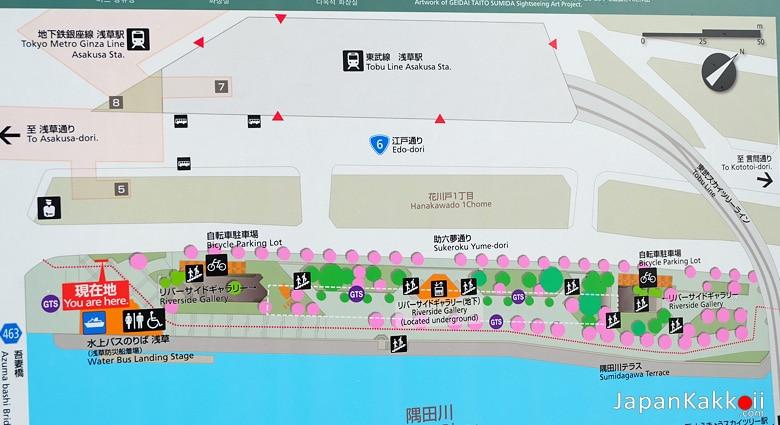 แผนที่สวนสุมิดะ (Sumida Park)