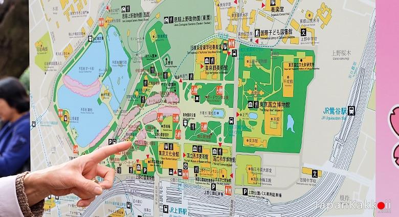 แผนที่สวนอุเอโนะ