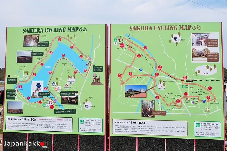 แผนที่สำหรับปั่นจักรยาน