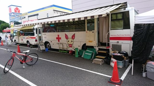 รถรับบริจาคเลือดที่ญี่ปุ่น