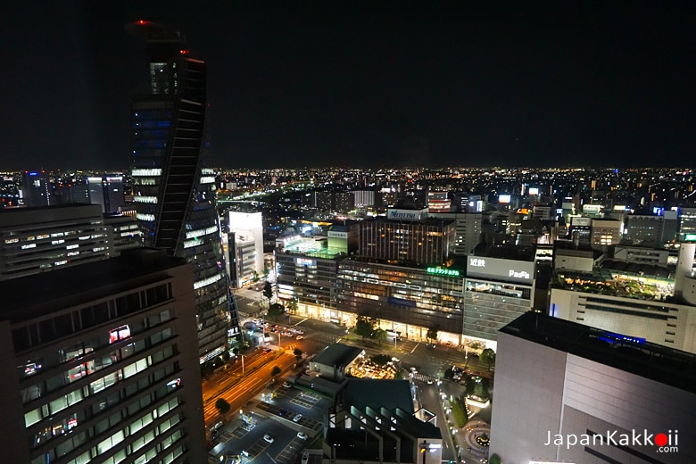 วิวบริเวณสถานี Nagoya จากห้องพัก