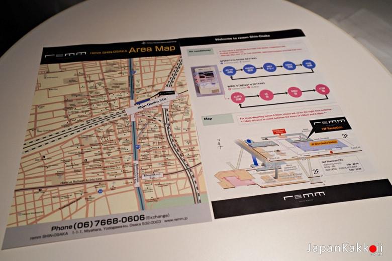 แผนที่บริเวณสถานี Shin-Osaka