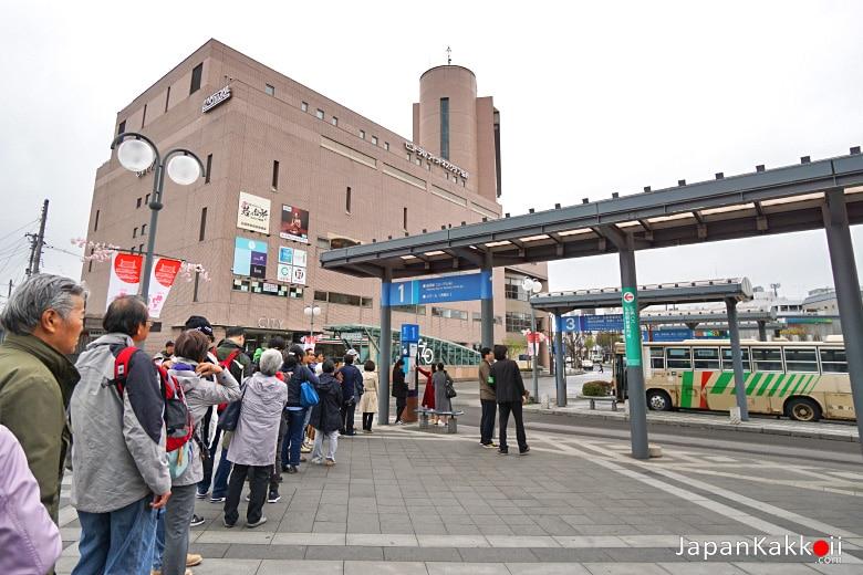 หน้าสถานี Hirosaki