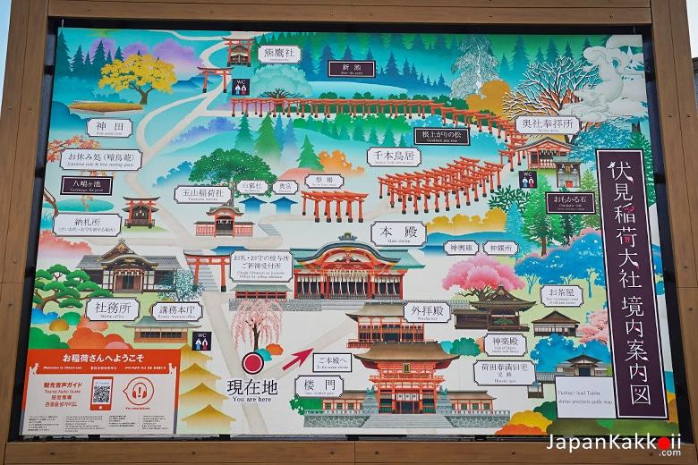 Fushimi Inari Taisha Map