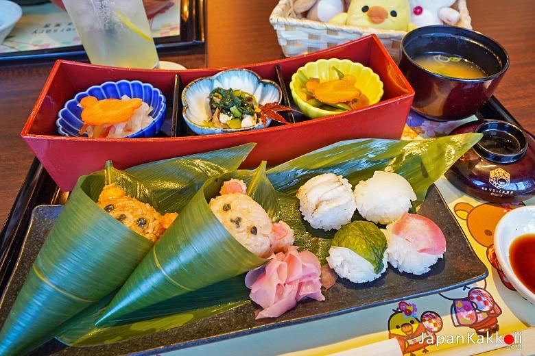 เซ็ตเบนโตะซูชิและข้าวปั้น